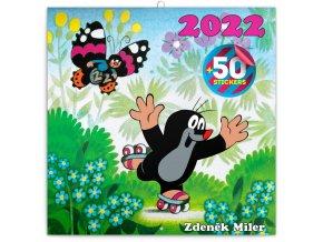 poznamkovy kalendar krtecek 2022 s 50 samolepkami 30 30 cm 571956 31