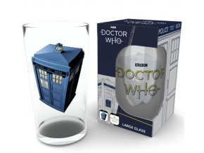 doctor who sklenice tardis