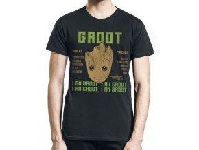 Pánské tričko Strážci Galaxie - Groot skills