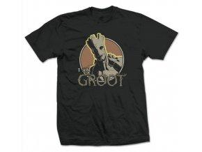 Pánské tričko Strážci Galaxie - I am Groot