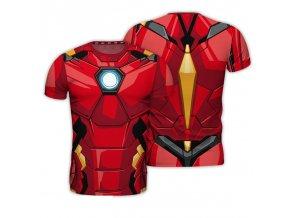 marvel avengers panske tricko kostym iron man