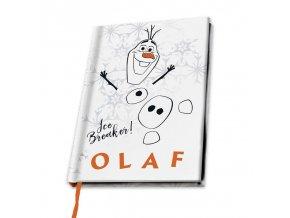 disney frozen ledove kralovstvi zapisnik blok notes a5 olaf