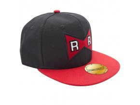 dragon ball snapback cap black red red ribbon