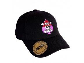 one piece cap black ace s skull