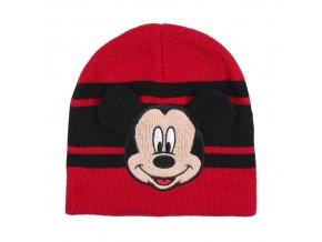 mickey mouse hat zimni cepice winter cervena red