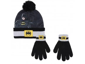 dc comics batman set zimni detska cepice rukavice batman
