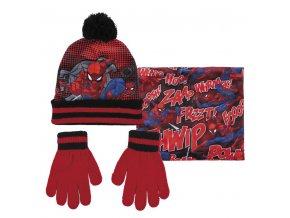 marvel spiderman set zimni detska cepice rukavice spidey