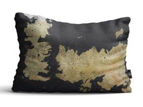Polštář Hra o trůny - Mapa Westeros