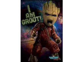 Plakát Strážci Galaxie 2 - Angry Groot