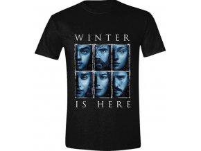 Pánské tričko Hra o trůny - Winter is here