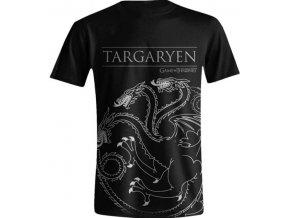 Pánské tričko Hra o trůny - Targaryen černé