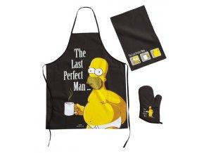 Kuchyňský set Simpsons - Last Perfect Man, zástěra, utěrka, chňapka