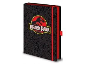 Luxusní zápisník A5 Jurský park - Logo