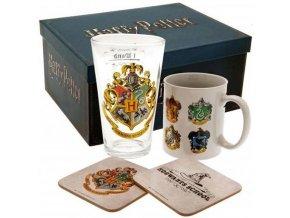 Dárkový set Harry Potter - Hrnek, sklenice, tácky