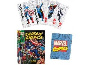 Hrací karty Captain America - Comic Book