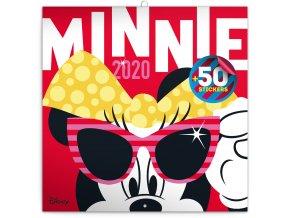 poznamkovy kalendar minnie 2020 s 50 samolepkami 30 x 30 cm 318249 7
