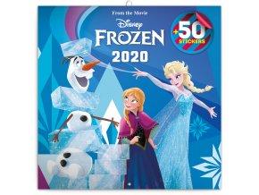 poznamkovy kalendar frozen ledove kralovstvi 2020 s 50 samolepkami 30 x 30 cm 318005 7