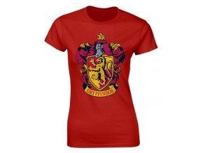 Dámské tričko Harry Potter - Nebelvír, červené