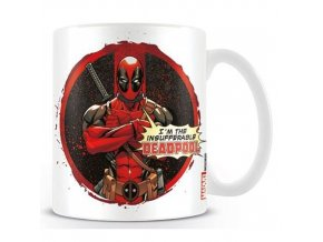 Hrnek Deadpool - Insufferable, objem 315 ml, bílý