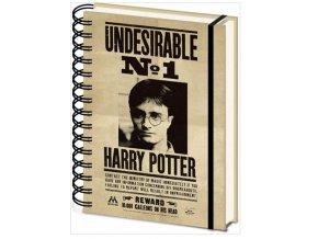 Blok A5 Harry Potter - 3D Sirius a Harry, kroužková vazba