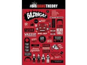 plakát teorie velkého třesku the big bang theory infographic