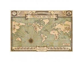 Plakát Fantastická zvířata - Mappa Mundi