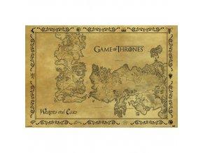 Plakát Hra o trůny - Mapa