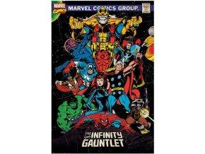 Plakát Marvel - Retro, The Infinity Gauntlet