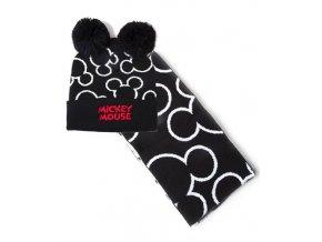 Zimní set Mickey Mouse - Čepice, šála