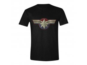 Pánské tričko Captain Marvel - Logo, černé