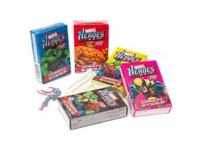 marvel heroes candy sticks with tattoo