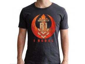 star wars tshirt i rebel homme mc dark grey new fit