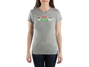 Dámské tričko Přátelé - Central Perk, šedé