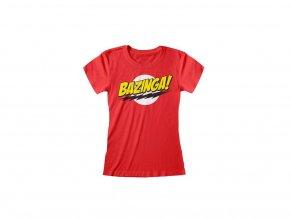 Dámské tričko Teorie velkého třesku - Bazinga!