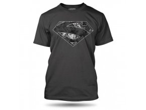 tricko superman logo dark panske