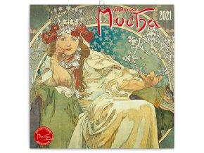 poznamkovy kalendar alfons mucha 2021 30 x 30 cm 255559 16