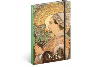 notes alfons mucha bodlak linkovany 13 x 21 cm 458348 17