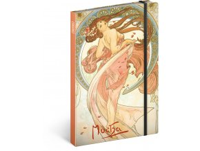 notes alfons mucha tanec linkovany 13 x 21 cm 679670 15