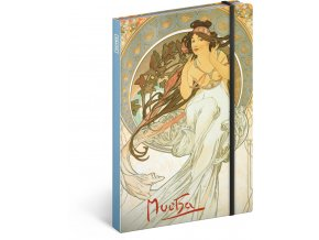notes alfons mucha hudba linkovany 13 x 21 cm 515735 15