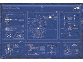 Plakát Star Wars - Rebel Alliance fleet