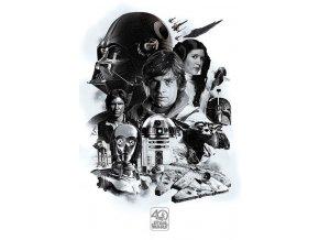 Plakát Star Wars - 40th Anniversary