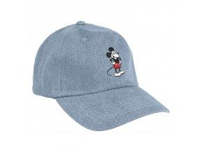 mickey mouse baseballova cepice ksiltovka seda