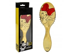 hřeben hairbrush minnie mouse zlatý gold