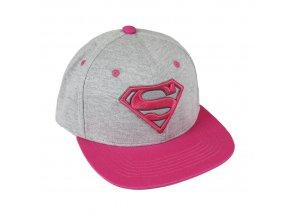 superman rap cepice ksiltovka ruzova logo