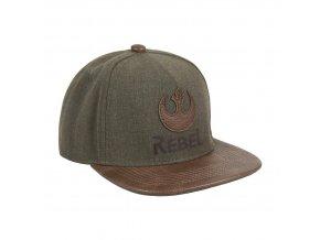 starwars rap cepice ksiltovka hneda logo rebel