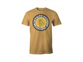 harry potter damske tricko s dlouhym rukavem hufflepuff mrzimor logo motto