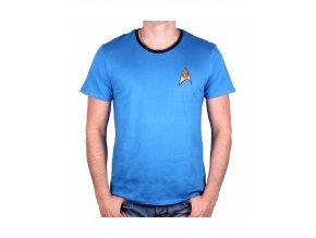star trek panske tricko costume spock modre
