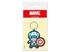 Přívěsek na klíče Avengers - Captain America, Cartoon