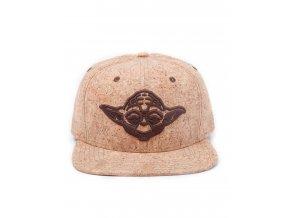 Kšiltovka Star Wars - Yoda korková