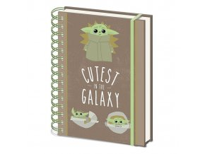 star wars mandalorian zapisnik blok cutest in the galaxy